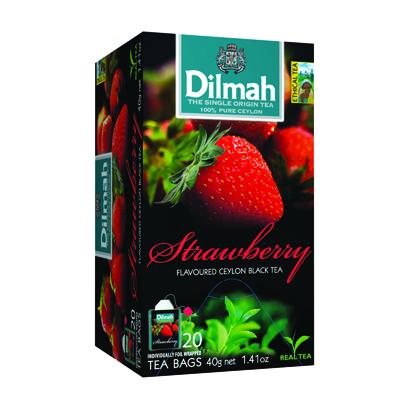 ชาดำกลิ่นสตรอเบอร์รี่ 2 กรัม (กล่อง20ซอง) ดิลมา