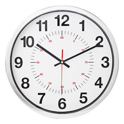นาฬิกาแขวนผนัง 13 นิ้ว ขอบเงิน 822