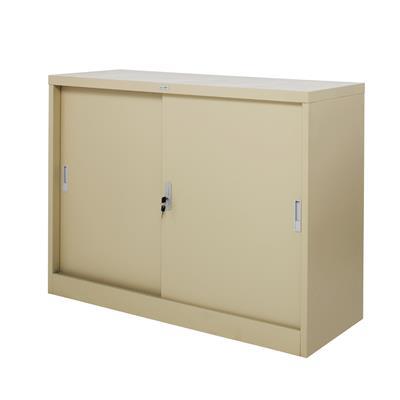 ตู้เหล็กบานเลื่อนทึบ ครีม Zingular ZDO-314