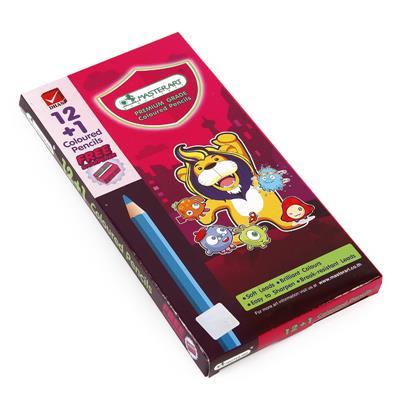 ดินสอสีแท่งยาว (กล่อง12สี) มาสเตอร์อาร์ต