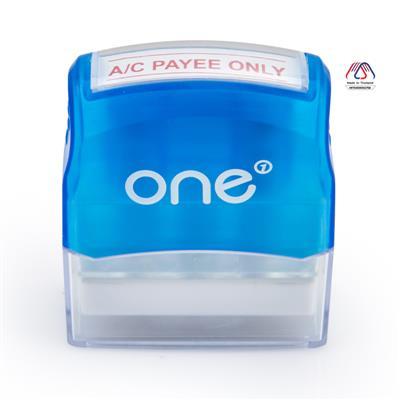 ตรายางหมึกในตัว A/C PAYEE ONLY ONE