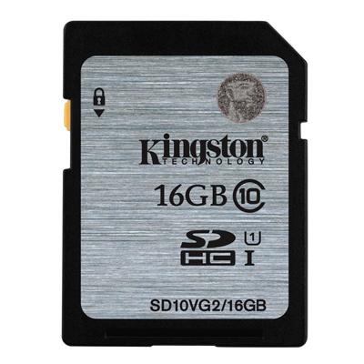 Kingston SDHC Class 10 เมมโมรี่การ์ด 16 GB (SD10V)