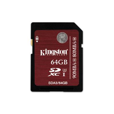 Kingston SDXC UHS-I U3 เมมโมรี่การ์ด 64 GB