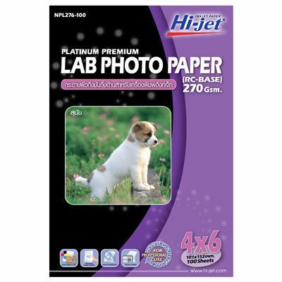 กระดาษโฟโต้อิงค์เจ็ทกึ่งมันกึ่งด้าน 4″x6″ 270แกรม (100แผ่น) HI-JET NPL 276-100