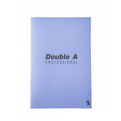 สมุดบันทึกมุงหลังคา 16×23.8ซม. 70แกรม ม่วง Double A Professional