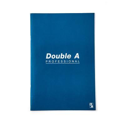 สมุดบันทึกมุงหลังคา 16×23.8ซม. 70แกรม น้ำเงิน Double A Professional