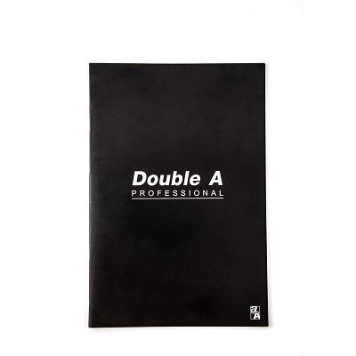 สมุดบันทึกมุงหลังคา 16×23.8ซม. 70แกรม ดำ Double A Professional