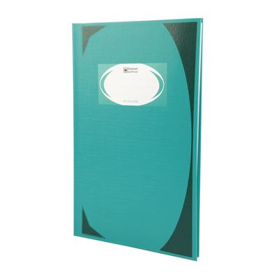 สมุดบันทึกมุมมัน 21x32x1.4ซม 70แกรม เขียว (แพ็ค3เล่ม) ตราช้าง