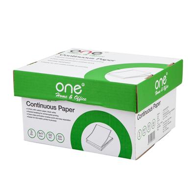 กระดาษต่อเนื่อง ไม่มีเส้น 9×11″ (3ชั้น) ONE