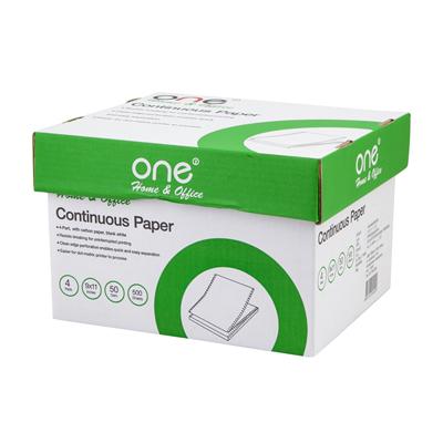 กระดาษต่อเนื่อง ไม่มีเส้น 9×11″ (4ชั้น) ONE