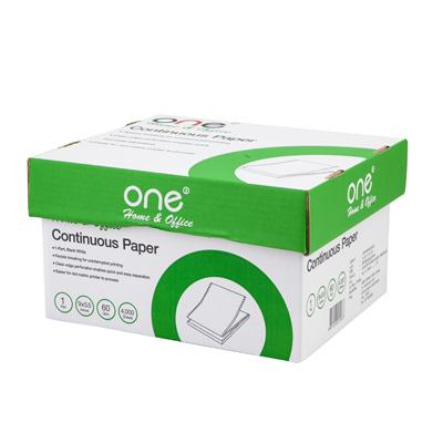 กระดาษต่อเนื่อง ไม่มีเส้น 9×5.5″ (1ชั้น) ONE