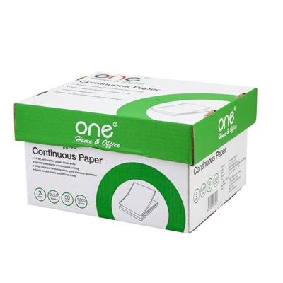 กระดาษต่อเนื่อง ไม่มีเส้น 9×5.5″ (3ชั้น) ONE