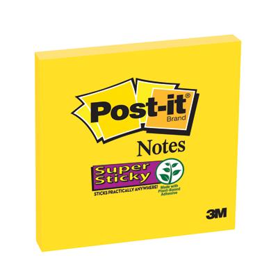 ซุปเปอร์สติกกี้โน้ต เหลืองอีเล็คทริค โพสต์-อิท 654-SSEY