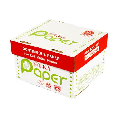 กระดาษต่อเนื่อง ไม่มีเส้น 9.5x11 1 ชั้น T.K.S.