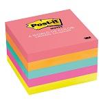 กระดาษโน้ต นีออนคัลเลอร์ 3×3″คละสี5เล่ม โพสต์-อิท 654-5PK