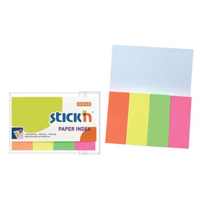 กระดาษโน้ตอินเด็กซ์ 2×5 ซม. คละสี สติก เอ็น 21205