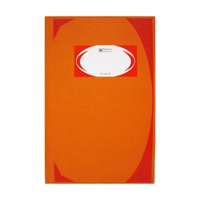 สมุดบันทึกมุมมัน HC-106 70 แกรม ส้ม ตราช้าง 5/100