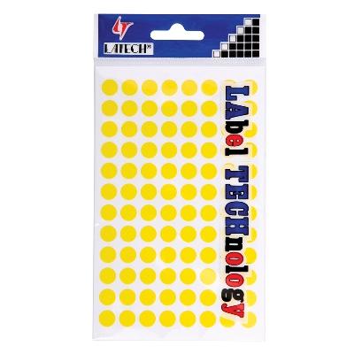 สติกเกอร์กระดาษสี 9 มม. เหลือง ลาเท็กซ์ C-304
