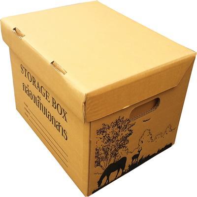 กล่องเอกสาร ลายซาฟารี ดำ วิงส์