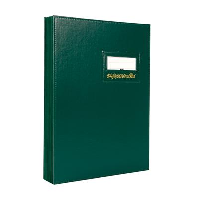 สมุดเสนอเซ็น F4 เขียว รีลักส์ S-14