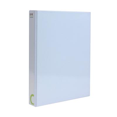 แฟ้ม 2ห่วง สัน1.5นิ้ว A4 ขาว (แพ็ค1เล่ม) ONE
