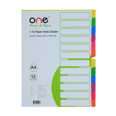 อินเด็กซ์กระดาษ 12หยัก คละสี ONE