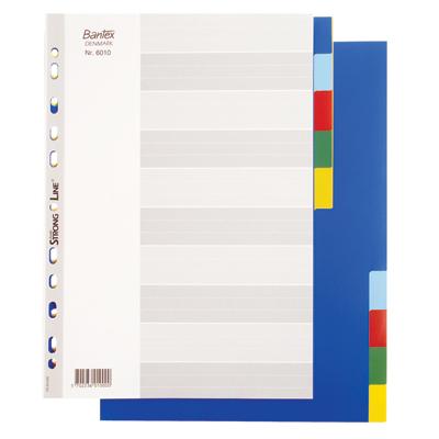 อินเด็กซ์พลาสติก A4 10 หยัก คละสี แบนเท็กซ์ 6010
