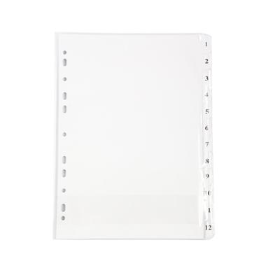 อินเด็กซ์กระดาษการ์ดขาว (1-12) ใบโพธิ์
