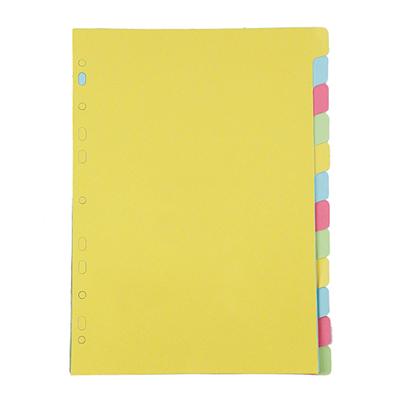 อินเด็กซ์กระดาษการ์ด A4 12 หยัก คละสี ใบโพธิ์