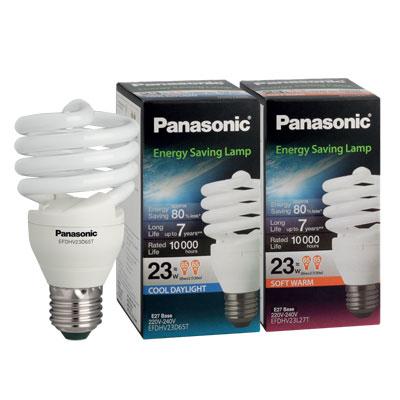 หลอดไฟอีโคสไปรัล 23W.ซอฟต์วอร์ม Panasonic EFDHV23L27T