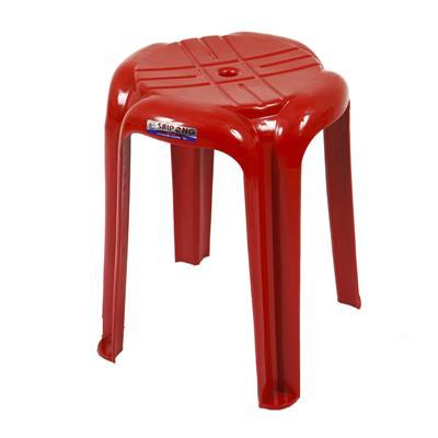 เก้าอี้พลาสติกอเนกประสงค์ทรงกลม แดง เอเพ็กซ์