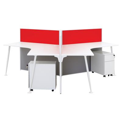 โต๊ะทำงาน+ตู้ลิ้นชัก ขาว เฟอร์ราเดค AXP-BM110G3-BF