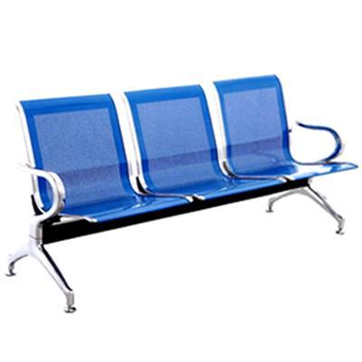เก้าอี้ 3 ที่นั่ง มีแขน สีฟ้า กรีนไลน์ B03A-BU