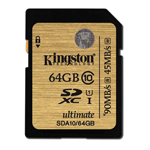 Kingston SDHC UHS-I Ultimate Class10 Memory Card 64GB